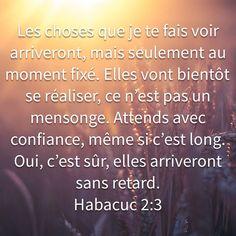 Françoise Longuemard a créé un verset illustré pour <b>Habacuc 2:3</b>   Bible.com 1st Peter 2, New Living Translation, Priest, Cards Against Humanity, Faith, Good Things, In This Moment, God, Pretty Quotes