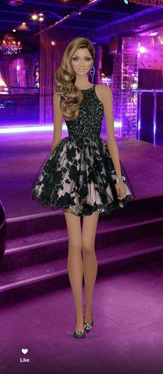 Covet Fashion Games, Fashion Art, Fashion Drawings, Womens Fashion, Fashion Design, Black Barbie, Glamour, Designer Dresses, Sketch