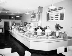 Lunch counter, 1954