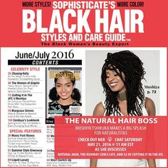 Xtra Xtra Read All About It!!!!! #TeamMushiya..... The #NaturalHairBoss is on the cover of @SophisticatesBlackHairStyles  Pick up your copy today!!!! Join @Mushiyatshikuka tomorrow May 21st at 1pm for her FaceBook Live Chat. She will be answering your questions and giving you a sneak peak into the upcoming season of #Cuttingit her #Essencefest performance and answers on how to become a #RunwayCurlsStylist or #RunwayCurlsAmbassador. The #NaturalHairBoss is also doing a  Hair Giveaway!!!! Yes…
