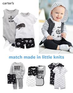 Shop his black + white collection now! Pirates, whales + stripes, oh my! Crafted with soft knits, this collection is perfect for your little captain.