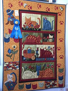 Bolt, a quilt shop in Maine, recently held a challenge using Cheryl Haynes' Crafty Cats collection.