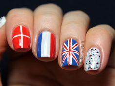 Nails for Europe Love Nails, Pretty Nails, My Nails, Cool Nail Designs, Shape Design, Nail Trends, Finger, Hair Beauty, Nail Polish