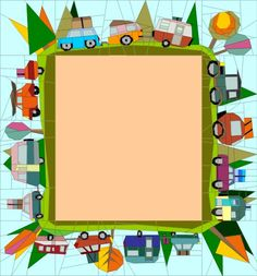 Wonky Vans Border - Quilt Art Designs - Paper Piecing Patterns