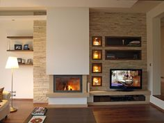 Kamin Source by noratreuer The post Kamin appeared first on My Art My Home. Kami… Kamin Source by noratreuer The post Kamin appeared first on My Art My Home. Home Fireplace, Living Room With Fireplace, Fireplace Design, Bedroom Fireplace, Fireplace Ideas, Fireplace Kitchen, Fireplace Stone, Modern Fireplaces, Living Room Tv