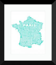 France Print - MapMyState.com