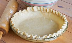 Une bonne vieille recette de pâte à tarte, préparée avec du lait!