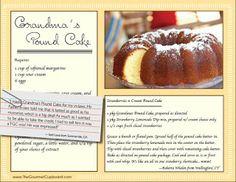 The Gourmet Cupboard Grandma's Pound Cake Splendid Things