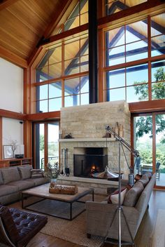 Thistle Hill Farm - contemporary - living room - milwaukee - Northworks Architects and Planners