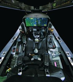 The F-35 cockpit.