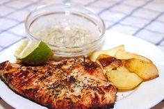 Grillezett pulykamell limeos pácban recept: Gyorsan elkészíthető, különleges pác recept, mely kifejezetten jól passzol a pulyka - vagy csirkemellhez. Serpenyőben megsütve is elkészíthető, de grillen az igazi. :) Creative Food, Fish Recipes, Poultry, Risotto, Mashed Potatoes, Grilling, Paleo, Cooking Recipes, Chicken