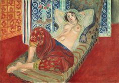 Henri Matisse, odalisca in pantaloni rossi