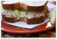 Mommy's Kitchen - Country Cooking & Family Friendly Recipes: Tuna Salad Sandwiches, Mamaw's Recipe {Potluck Sunday}