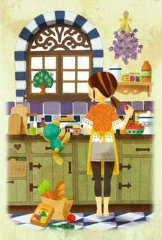 Sayaka Ouhito: The Charm on Her Greenery-filled Illustrations | Plethoric Thoughts