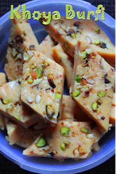 YUMMY TUMMY: Easy Khoya Burfi Recipe / Mawa Barfi Recipe / Kesar Burfi Recipe