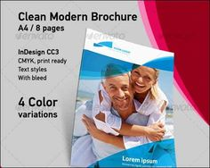 Clean Modern Brochure A4 8 Pages Brochure Templates