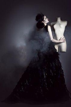 SeeChic / Raven Queen Quoth The Raven, Raven Queen, Fasion, Modeling, Ballet Skirt, Rococo, Powder, Dresses, Vestidos