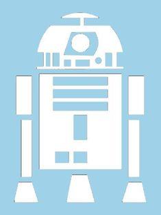 """Star Wars R2D2 6"""" White VINYL Car Decal Art Wall Sticker Car USA"""
