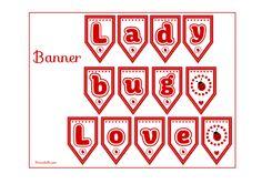 Free Printable Ladybug Banner