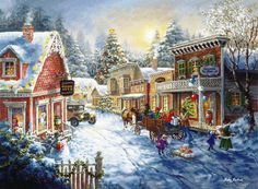 Nicky Boehme's paintings of quaint, peaceful, scenes awash with dramatic light and vibrant color, draw the viewer into a romantic and memorable adventure of a special place and time.