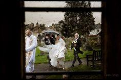 Wedding photo of a bride arriving at church in rain Wedding Signs, Wedding Day, Creative Photography, Wedding Photography, Rain Pictures, Wedding Reception Backdrop, Top Wedding Photographers, Wedding Photos, Bride