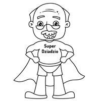 Kiddoland: Kolorowanka Super Dziadzio Grandparents Day, Coloring Books, Character Design, Dads, Humor, Pattern, Fictional Characters, Kid Drawings, Activities