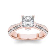 De Couer 14k Rose Gold 1 3/4ct TDW Diamond Engagement Ring (, I2) (Size - ), Women's