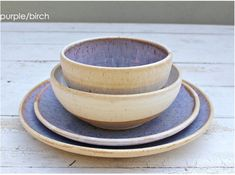 Wedding Dinnerware Registry, Dinnerware; Ceramic Dishes, Clay Place Settings, Pottery Dishes, Bridal Registry, Wedding Registry, handmade