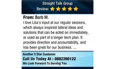 I love Lisa's input at our regular sessions, which always inspiresl lateral ideas and...