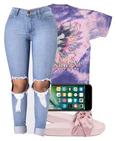 """Last name hendrix but no i'm not jimi"" by trilltommie ❤ liked on Polyvore featuring Puma"
