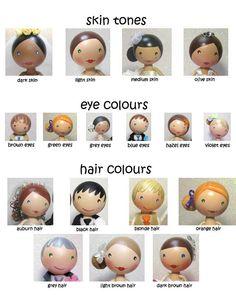 Alle Größen | Skin Tones/Eye Colours/Hair Colours | Flickr - Fotosharing!