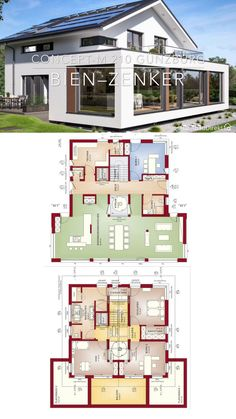 Modern Bungalow House, Bungalow House Plans, New House Plans, Dream House Plans, Two Story House Design, Sims House Design, House Front Design, Minimal House Design, Indian House Plans