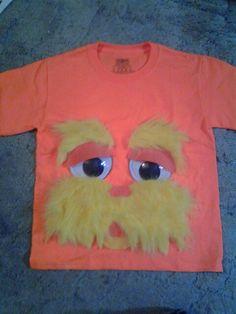 Diy lorax t-shirt.read across america Lorax Costume, Dr Seuss Costumes, Book Costumes, Book Character Costumes, Book Characters Dress Up, Storybook Characters, Dr Seuss Week, Dr Suess, Dr Seuss Crafts
