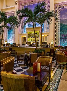The Old World tropical-inspired bar at the Hotel Saratoga, a good base in Old Havana. Photo by Steven dos Remedios.