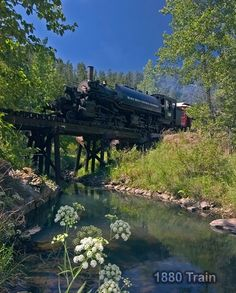 1880 Train in the Black Hills of South Dakota. There was a main line stretching from Edgemont to Deadwood which has now been converted into a bike trail called the Michelson Trial. This train is one of the spurs that stemmed off of this main line. The crew provides an information history lesson of the line and the sites you ride past.