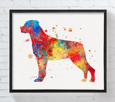 Could do any breed on white background. Rottweiler Art Rottweiler Print Rottweiler by MiaoMiaoDesign
