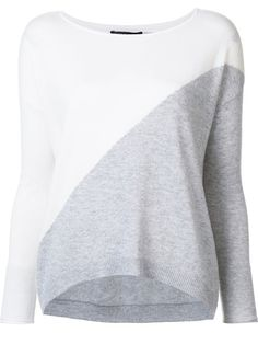 Shop Alice+Olivia colour block jumper.