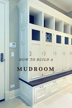 From selecting where your room should be, to all the must-have design elements, here's your guide on how to build a mudroom.
