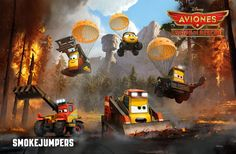 Forest Service partnered with Disney, Ad Council, and NASF to launch a series of wildfire prevention public service advertisements featuring scenes and characters from the animated film Planes: Fire and Rescue. Wildland Firefighter, Disney Planes Party, Disney Cars, Walt Disney Pictures, Planes Characters, Planes Movie, Pixar, Plane 2, New Disney Movies