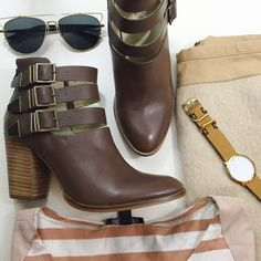 """Brown Leather Strappy Ankle Boots Details: • Size 8 • Brown leather • Back zip closure • 3"""" heel • Brand new in box  * Last photo belongs to Style Lullaby blog  12121508 Seychelles Shoes Ankle Boots & Booties"""