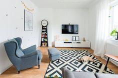 Blog wnętrzarski - design, nowoczesne projekty wnętrz 5 W, Leroy Merlin, Kids Rugs, Contemporary, Living Room, Interior Design, House, Home Decor, Decoration
