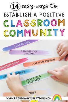 Working towards establishing a positive classroom community helps students feel connected and valued by their peers and teacher. We have 14 easy tips to help students feel part of an inclusive community. Pbis School, School Classroom, Classroom Ideas, Help Teaching, Teaching Writing, Reading Resources, School Resources, Primary Classroom, Primary School