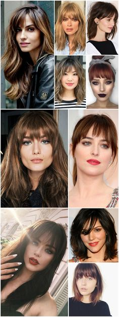 Hair trends 2018 bangs 66 new Ideas Long Hair With Bangs, Haircuts For Long Hair, Long Curly Hair, Hairstyles With Bangs, Medium Hair Cuts, Short Hair Cuts, Medium Hair Styles, Curly Hair Styles, Hair Trends 2018