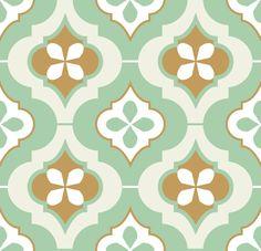 Morocco tiles fabric