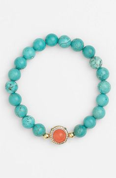 This Cara Beaded Stretch Bracelet is fun in pairs and multilples