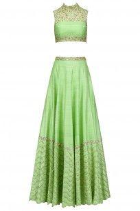 Green Embellished Lehenga Set #mahimamahajan #ethnic #festiveseason #shopnow #ppus #happyshopping