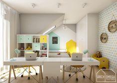 pokój dla dwójki dzieci - zdjęcie od Archomega Biuro Architektoniczne - Pokój dziecka - Styl Skandynawski - Archomega Biuro Architektoniczne