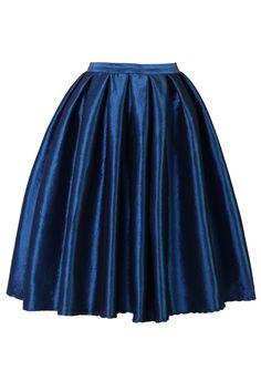 Sapphire A-line Midi Skirt - Skirt - Bottoms - Retro, Indie and Unique Fashion