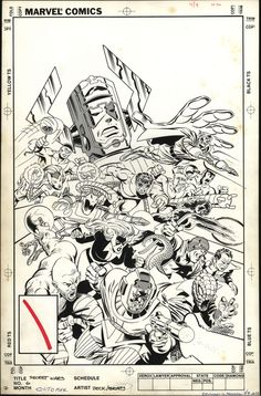 Secret Wars cover by Mike Zeck and John Beatty. From the coming Mike Zeck Artist's Edition.