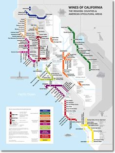 Metro Wine Map of CALIFORNIA